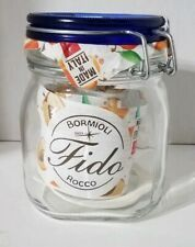 Bormioli Rocco Square Fido 75cl 25.25 oz Blue Top Canning Jar