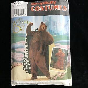 Simplicity Costumes 7833 Wizard of OZ Cowardly Lion Adult S M L Uncut Halloween