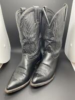 Vintage Model 1970 Tony Lama Leather Cowboy boots- Rockabilly Punk 6.5 D Mens