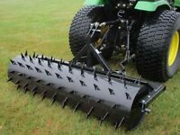 """60"""" Spike Aerator- 3 Pt - CAT 1 - 126 Spikes - Pull Behind - 393 lbs Capacity"""