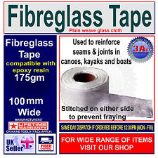 FIBREGLASS / GLASS FIBRE TAPE FOR POLYESTER & EPOXY RESINS 100mm x 3Meters