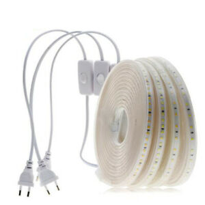 LED Strip 220V 240V Waterproof 2835 Commercial Lights Rope with on off switch