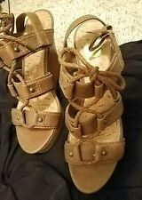 G by Guess Womens Hopey Open Toe Casual Gladiator Sandals, Brown, Size 5.5