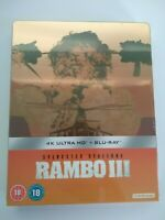 Rambo First Blood Part III 4k Ultra hd + Blu-Ray - Steelbook New