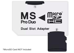 NEON MicroSD to Memory Stick PRO Duo Dual Slot Adapter - Sony Ecrisson Phones