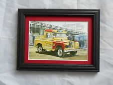 Land Rover 88 Inch Mersey Tunnel Stunning Framed & Mounted Postcard **Offers**