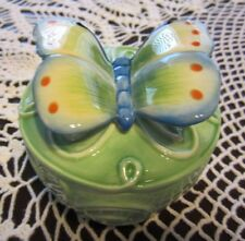 Fitz & Floyd Beautiful Lidded Box Trinket Box Butterfly Wonderful Christmas Gift