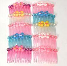 20 pcs Hair Comb Women Plastic Decorative With 15 Teeth Rhinestone Hair Side.