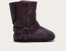 *MINT* FRYE INFANT HARNESS BOOTIE ROUND TOE PLUM LEATHER~3 INFANT