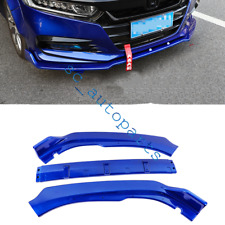 3Pcs For Honda Accord 2018-2019 Blue Spoiler Kit Bumpers Protector Cover Trim c