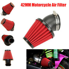 42mm Motorcycle Cone Style Air Filter with 45 Degree Bend Inlet Dual Layer Mesh