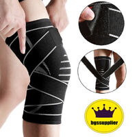 Weaving Knee Brace Pad Support Protect Compression Breathable Sports Gym Running