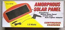 Ironton Amorphous Solar Panel Charger 1.5 Watt & 12 Volt Auto Lighter Adapter