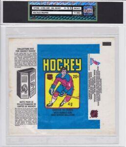 1979-80 O-Pee-Chee NHL Hockey Wax Pack Wrapper iCert GradeEX+ 5.5 Gretzky Locker