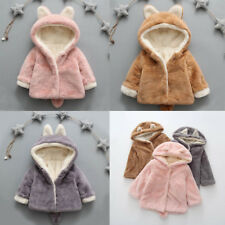 Baby Kids Girls Boys Autumn Winter Hooded Coat Cloak Jacket Thick Warm Clothes