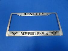 Bentley chrome license plate frame from Newport Beach