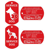 Service Dog Tags Personalized Engraved Dog Id Tag Set of 2 USA PetnovoUSA