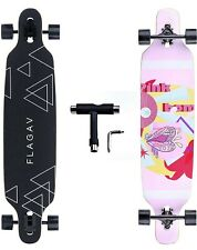 FLAGAV Longboard Skateboard 41in Skateboard for Cruising, Carving, Downhill