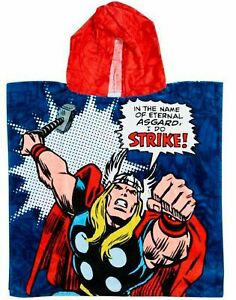 Marvel Avengers Retro Comics Thor & Iron Man Hooded Towel | Kids Hooded Poncho