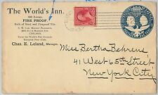 63244 - UNITED STATES - Private POSTAL STATIONERY COVER 1893  FIRE Firefighting