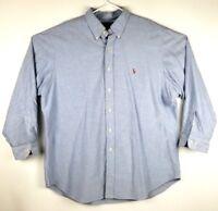 Ralph Lauren Classic Fit Button Down Long Sleeve Shirt Men's 17.5 32-33  EUC