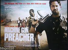 MACHINE  GUN PREACHER ORIGINAL 2011 QUAD POSTER GERARD BUTLER MICHAEL SHANNON