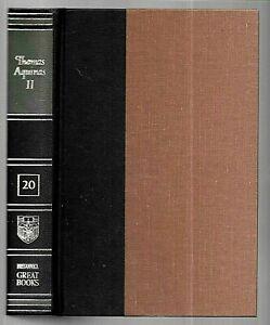 St. THOMAS AQUINAS II - Summa Theologica - Great Books # 20 (1952, Hardcover)