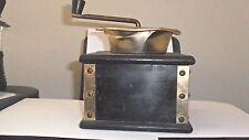 Rustic/Vintage Mahogany(?) Wooden Metal Hand Crank Coffee Grinder
