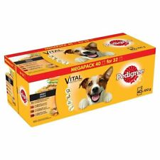 Pedigree Wet Dog Food Adult Dog 1+ Mixed Selection Gravy 40 pack Mixed
