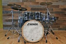 SONOR PROLITE STAGE-3 4 PIECE DRUM KIT, EXOTIC EBONY WHITE STRIPES (EX-DISPLAY)