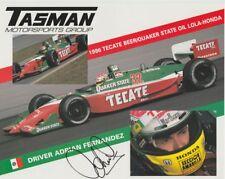 1996 Adrian Fernandez signed Tasman Motorsports Honda Lola CART postcard