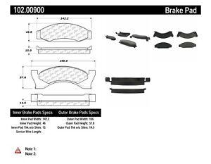 Disc Brake Pad Set-C-TEK Metallic Brake Pads-Preferred Front Centric 102.00900