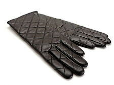 Etienne Aigner Black Leather Gloves New! NWT