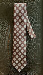 BRIONI Tie - 100% Silk Patterned Neck Tie Handmade Made in Italy