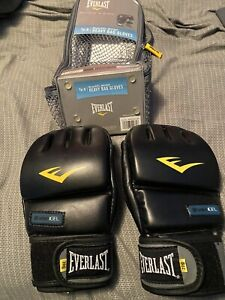 New Everlast Mens EverGel Wrist Wrap Heavy Bag Gloves Boxing 8oz Large X-Large