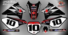 suzuki drz125 abziehbilder grafiken laminierte aufkleber motocross mx 125