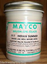 Mayco Brush-On Ceramic Glaze Vintage 4 OZ. 817 INDIAN SUMMER