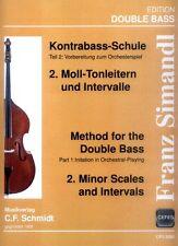 Franz Simandl Kontrabaß-Schule Teil I Band 2 Moll-Tonleitern Intervalle Noten