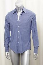 b9d153d07bf STEVEN ALAN Mens Casual Blue Pinstripe Chambray Long-Sleeve Button-Down  Shirt M