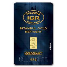 1/2 gram Gold Bar - Istanbul Gold Refinery (In Assay) - SKU #64156