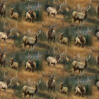 Fat Quarter Calling The Herd Magnificent Stag Cotton Quilting Fabric