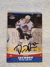Chicago Blackhawks Peter LeBlanc Signed 10/11 Rockford IceHogs Card Auto
