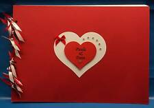 Beautiful A4 Personalised Hearts Photo Album / Scrap or Memory Birthday Book