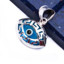 PROTECTION BLUE EVIL EYE .925 Sterling Silver Pendant