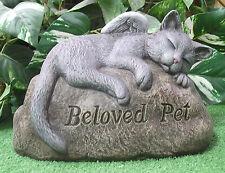 Beloved Pet Sleepy Kitty Cat Memorial Latex Fiberglass Production Mold Concrete