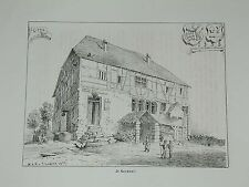 Kenzingen Nord perché Baden locanda COLTELLO fucina ORIGINALE LITO Lederle 1879