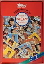 1987 TOPPS/SURF BASEBALL CARD BOOK CLEVELAND INDIANS