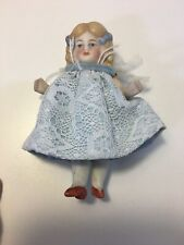 Vintage Porcelain Bisque Made In Germany Miniature Doll, with Rattles