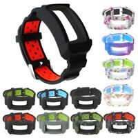 Silicone Watchband Strap With Protective Frame For Samsung Gear Fit2 / Fit2 Pro