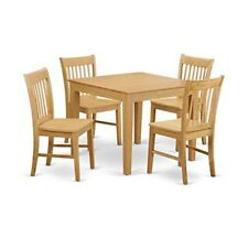 Oak square dining furniture sets ebay oxno5 oak w 5 piece kitchen table square table and 4 kitchen dining watchthetrailerfo